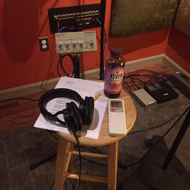 My desk for the day #recordingstudio #makingmusic