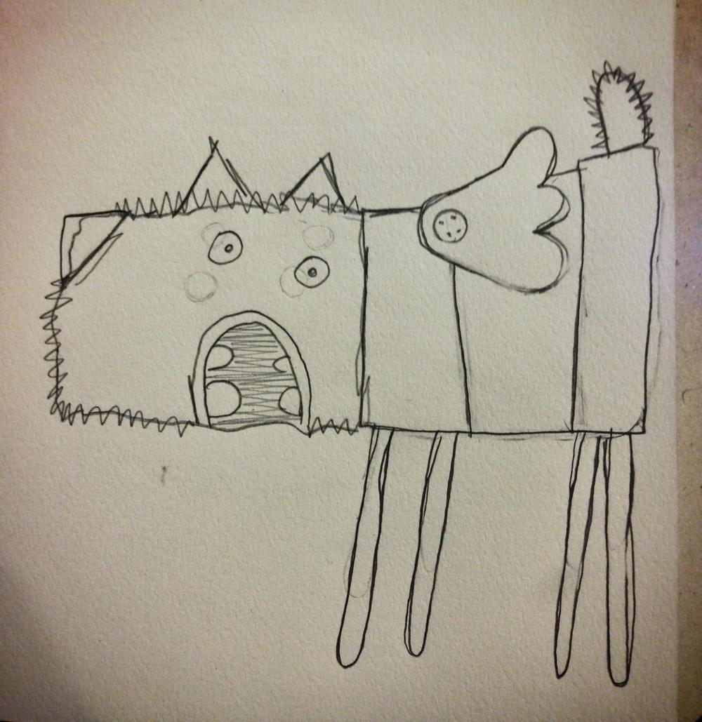 Ben's Bird Dog sketch