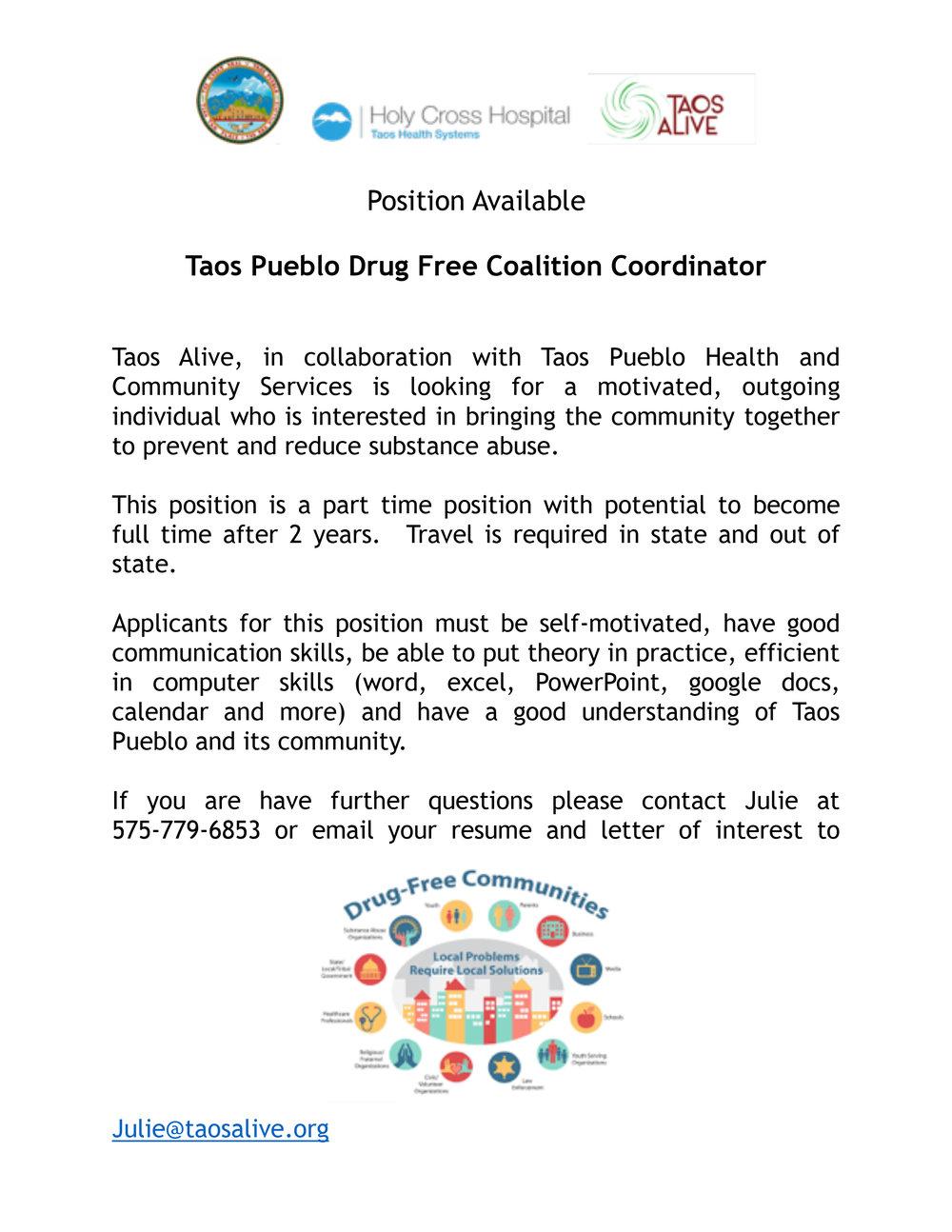 Taos Pueblo Drug Free Coalition Coordinator 2-1.jpg