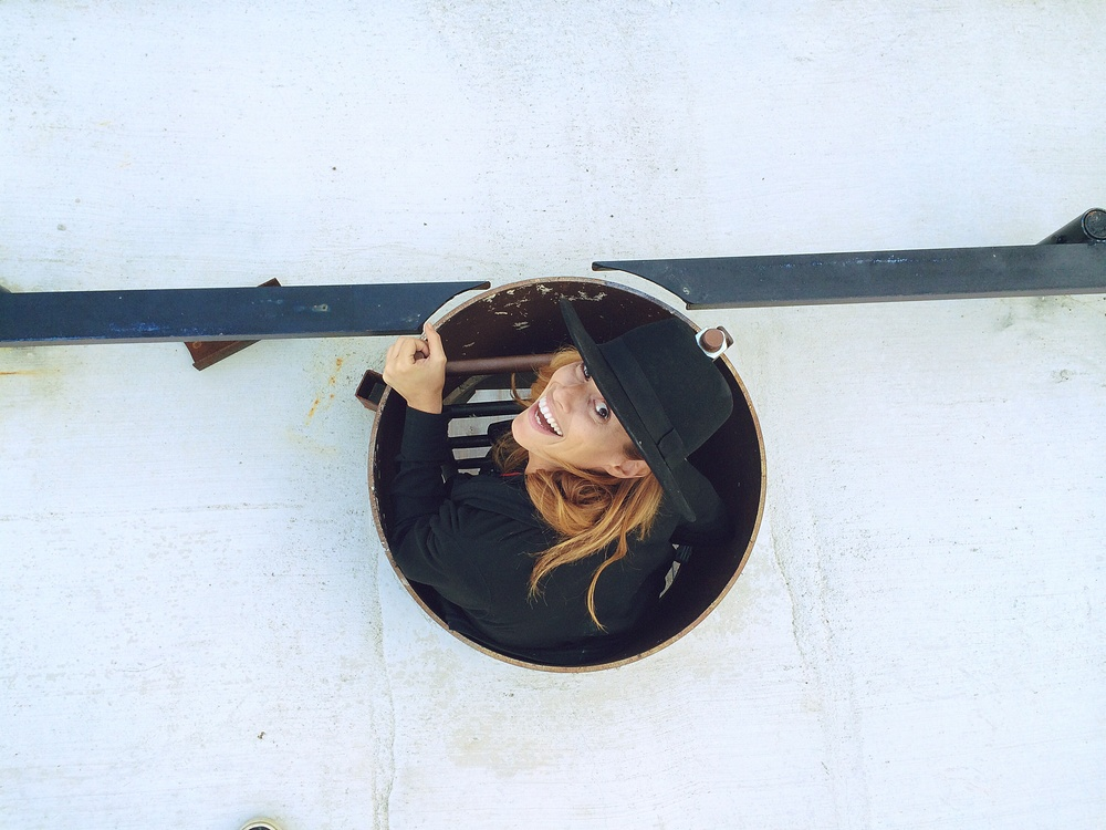 + me in a tiny hole on top of a huge building.