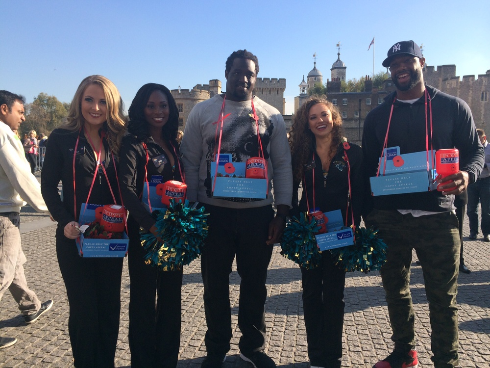 Selling Poppies at the tower