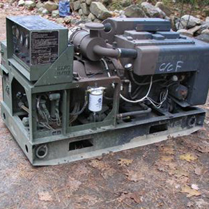 Diesel powered generators are reliable and convenient to use. Depending on fuel prices and machine efficiency, power will range from $1-40 per kWhr.