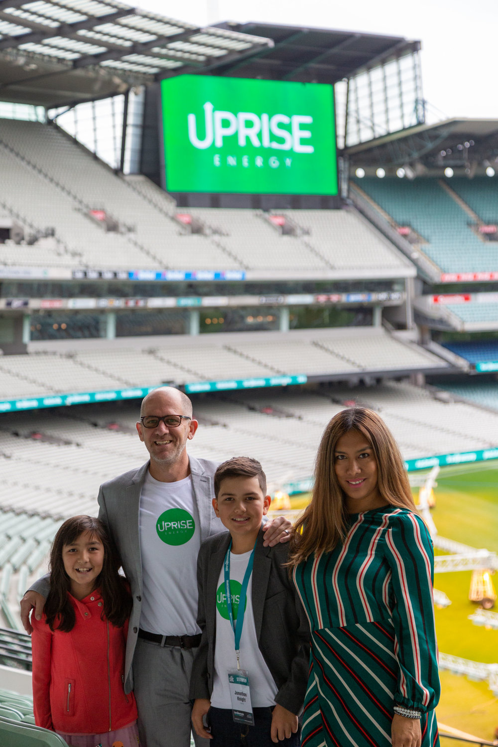 Representing Uprise in Australia, L to R: Kalani, Jonathan, Keone and Rosa Knight