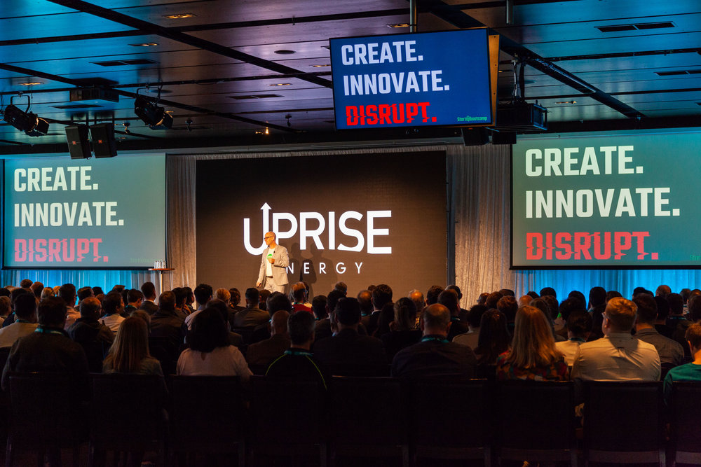 The Uprise pitch being delivered by Jonathan Knight