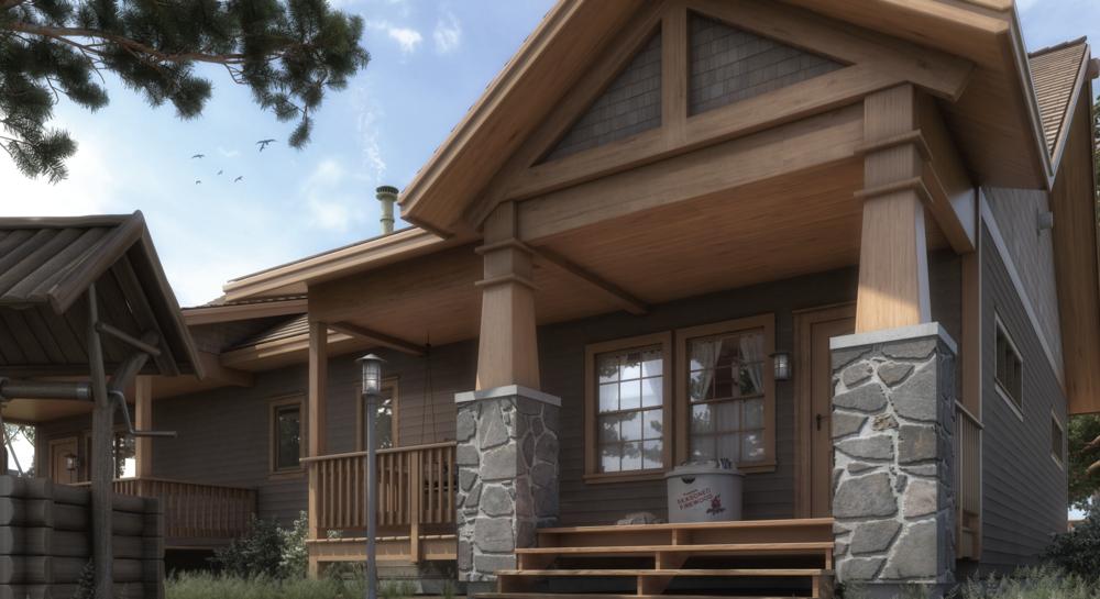 Rustic Cabin Rendering
