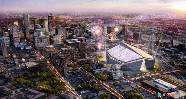 Minnesota Vikings Stadium Exterior Rendering