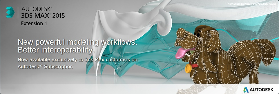 utodesk® 3ds Max® 2015 software. Extension 1