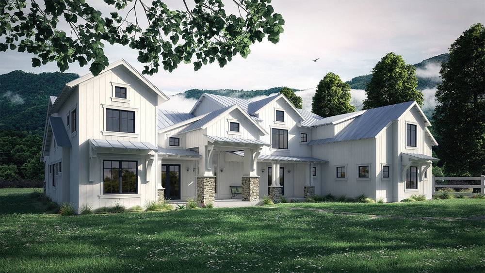 Mountan Side Retreat Rendering
