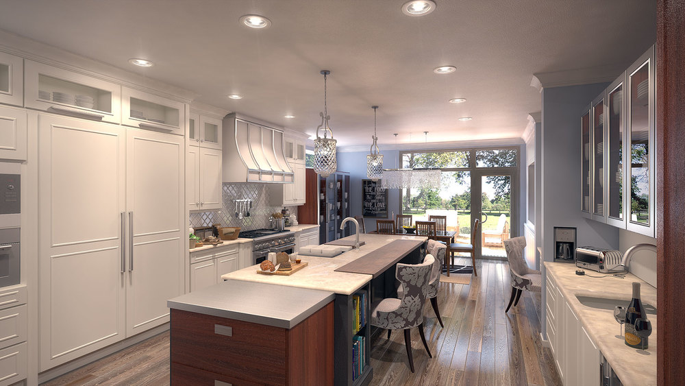 Custom Kitchen Rendering