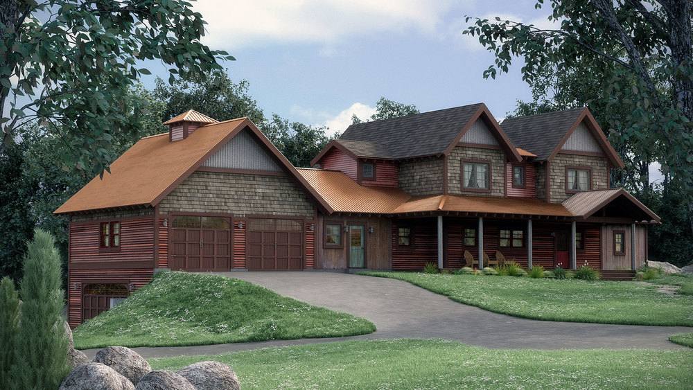 Rustic House Rendering