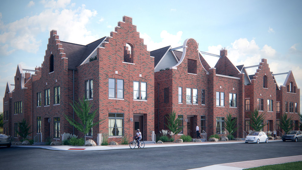 Day Townhouse 3D Rendering