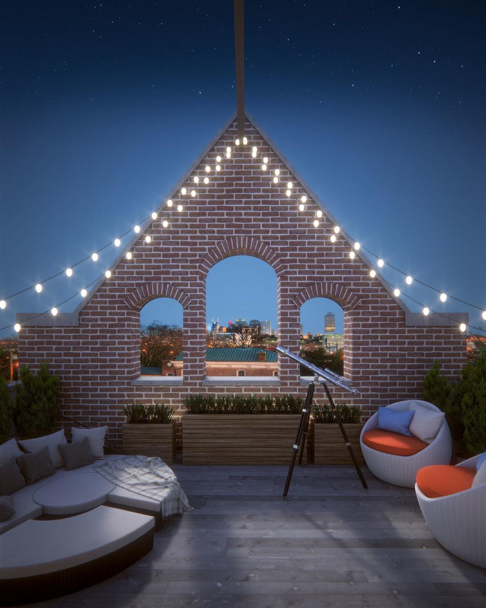 Twilight Deck View Rendering