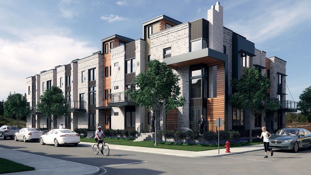 Modern townhouse rendering bobby parker for Modern townhouse architecture