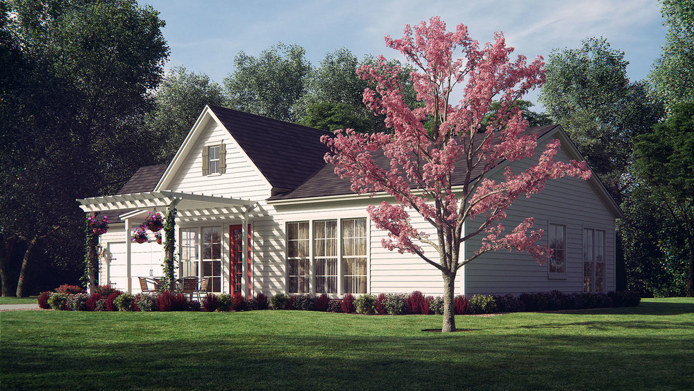Exterior House Rendering - Front