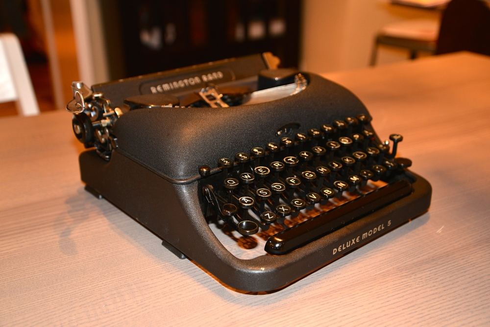 Lovingly restored and rare typewriters are a find from Tampa Type.  They have an extensive selection and you can even type a love note to that someone special.
