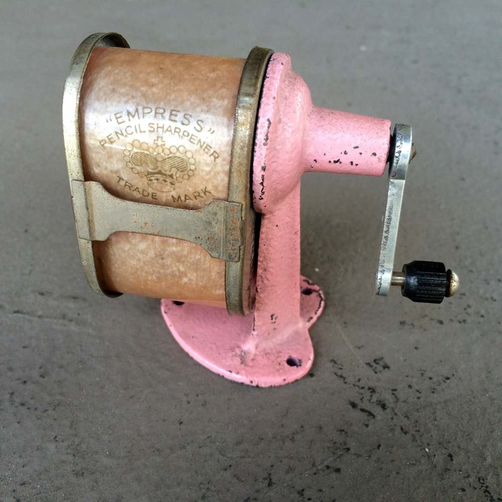 Vintage Japanese pencil sharpener with heart base is one unique item from Frivolous Dry Goods.  They have a carefully curated selection of handmade vintage items that shouldn't be missed.