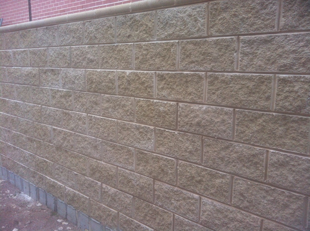 Spilfaced Block retaining wall