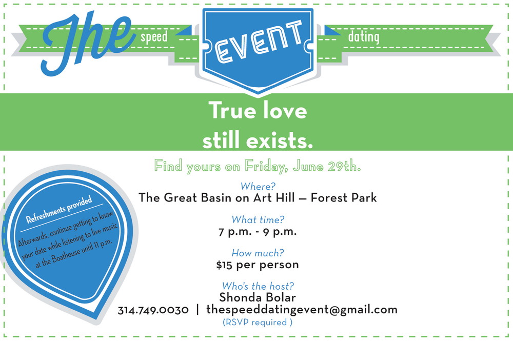 invitation for a speed dating event at Forest Park