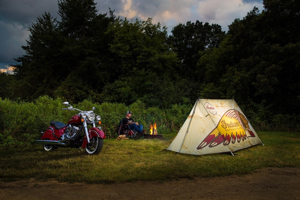 Camping: Indian Motorcycle Tent Ad