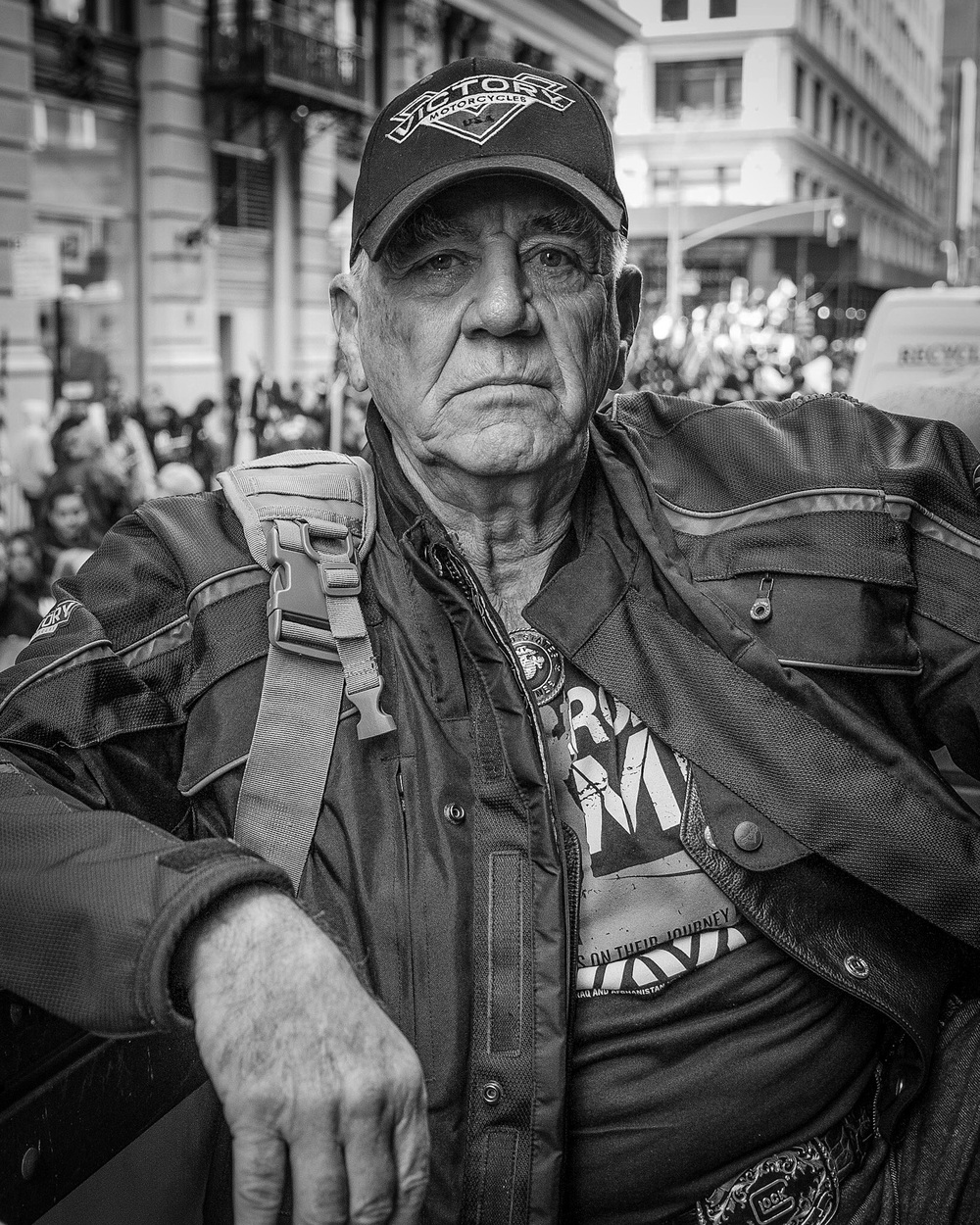 The Gunny, R. Lee Ermey at the Veterans Day Parade, New York City, NY.