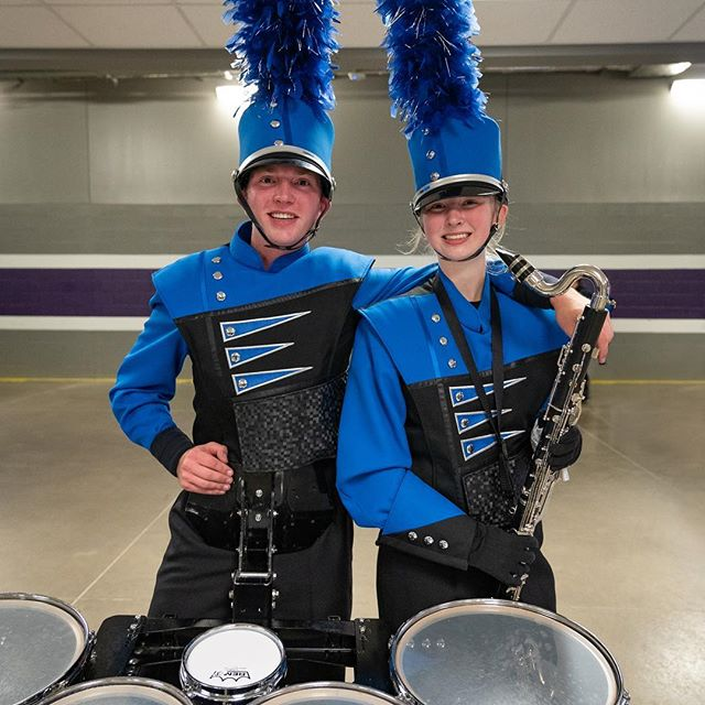 It's a wrap on another marching band season, and the moments where we got to see Annie and Willem on the same field. Watching these two kids work so hard together with their band has been a gas. . . . #evmb #marchingband #minnesota