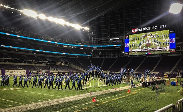 The last beat of the EVMB finals performance at @usbankstadium, and the last show @annieshelleny and @wjshell marched together. Don't care what the scores are...these kids played their hearts out, and blew everyone away. So proud.  #evmb #marchingband #minnesota