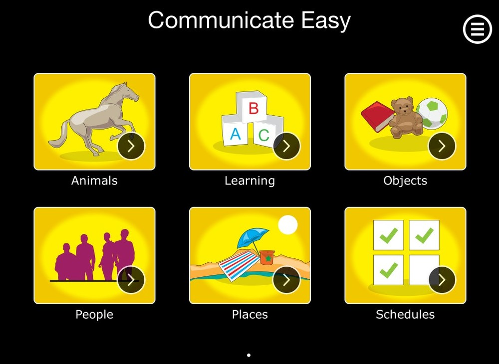 Communicate Easy - an iPad app made for an autistic son