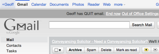 Quitting email. 2 weeks later.