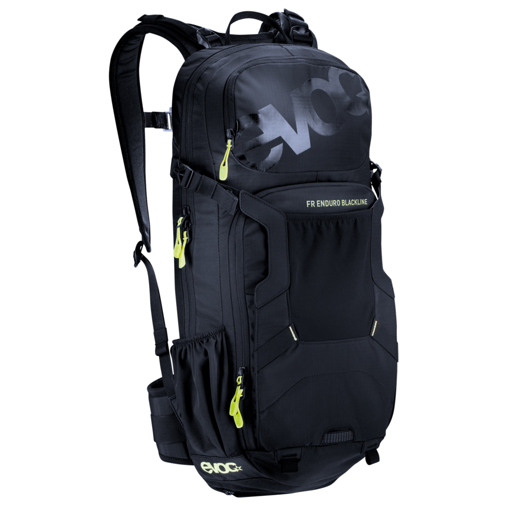 FR ENDURO BLACKLINE 16l - Optimised for enduro use, the EVOC FR ENDURO BLACKLINE is the pack of choice for demanding bike tours and trails with a back protector.
