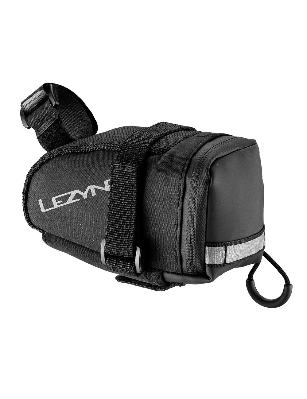 M-CADDY - Medium, wedge-shaped saddle bag. External, quick access multi-tool sleeve. Reflective loop increases night visibility. Water resistant zipper with large pull loop.