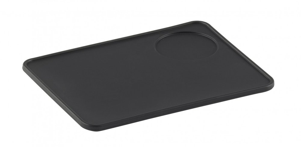 TAMPING MAT S - Tamping mat featuring 3mm thick silicone to protect your work surfaces. The food grade silicone is raised to 6mm around the edges to avoid spillage.