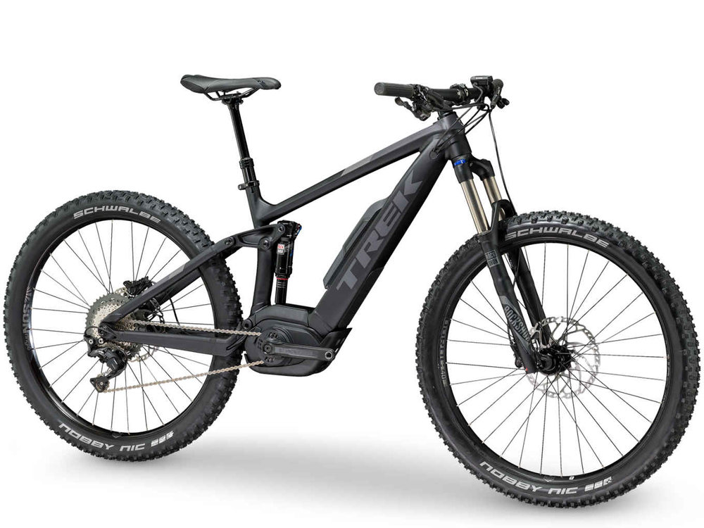 "POWERFLY 7 FS PLUS - Powerfly FS is the culmination of Trek's proven off-road legacy and the best of e-MTB technology. Size 18.5""."