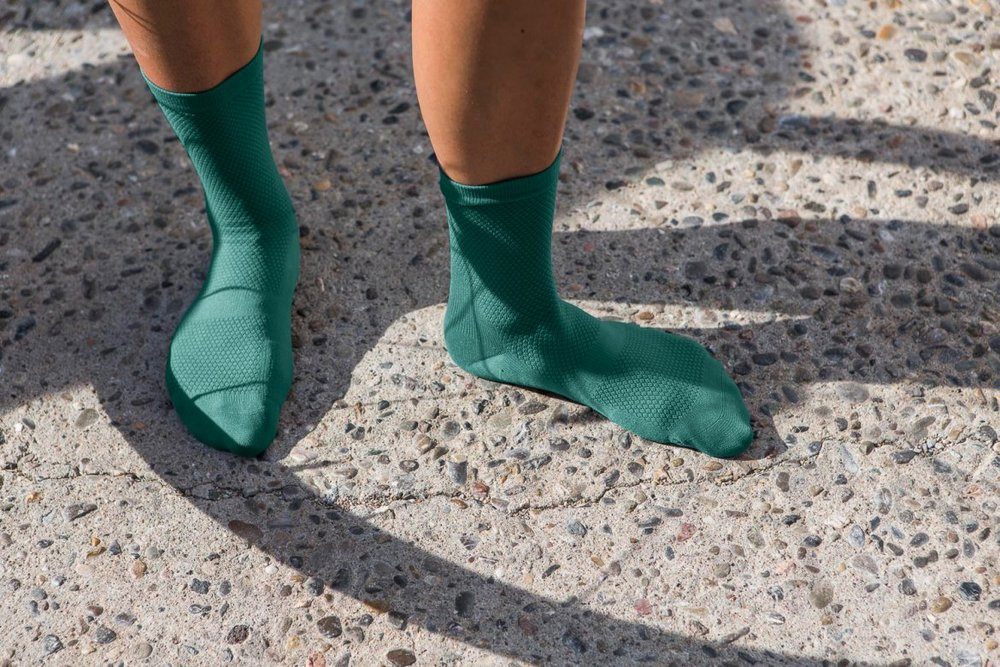 ECHELON SOCKS SAGEBRUSH GREEN - Echelon is a pair of simple performance socks to keep your feet cool and dry as you pedal.