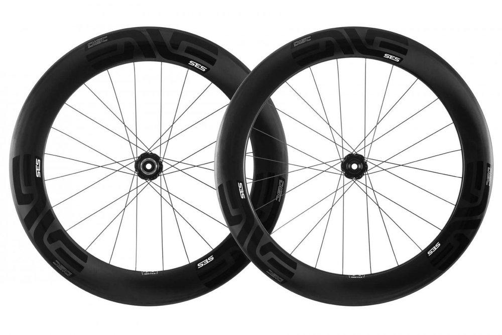 SES 7.8 DISC - A revolutionary new disc brake specific, aerodynamic, carbon fiber triathlon and time trial wheelset.