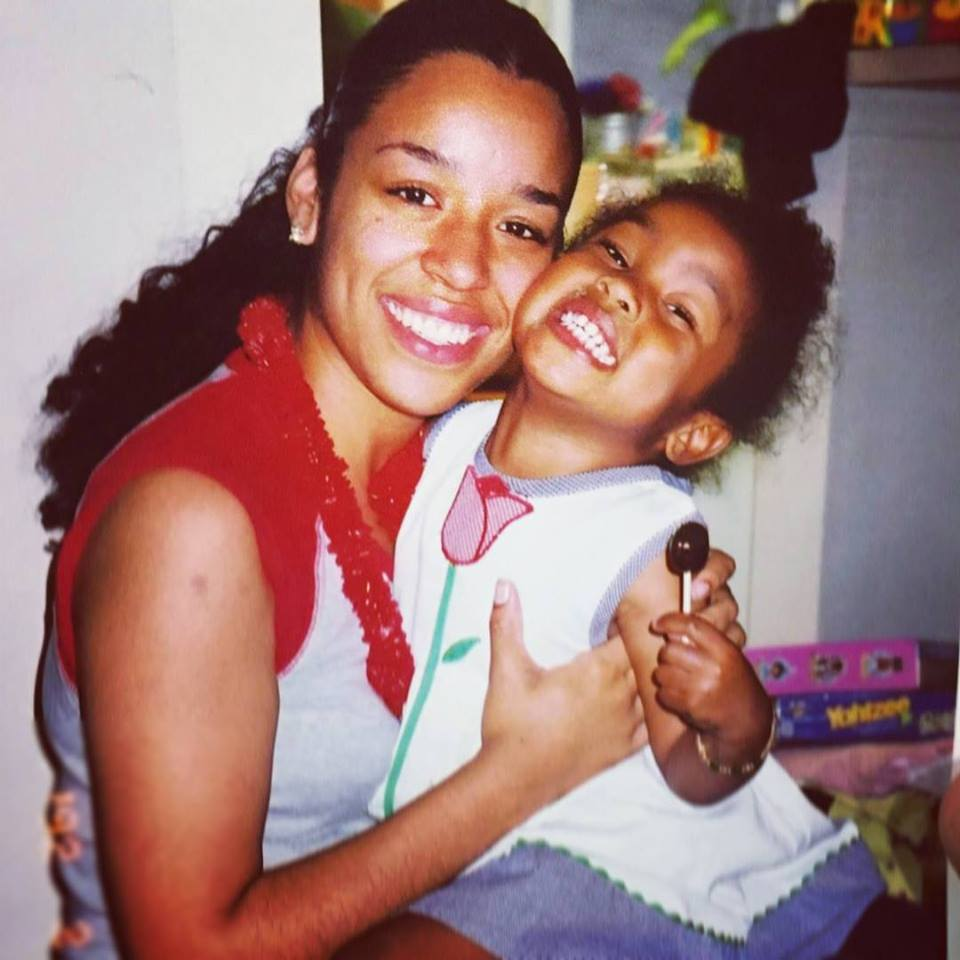 Nicole and her daughter, Nerissa, while Nicole attended the College of William & Mary as a teen mother