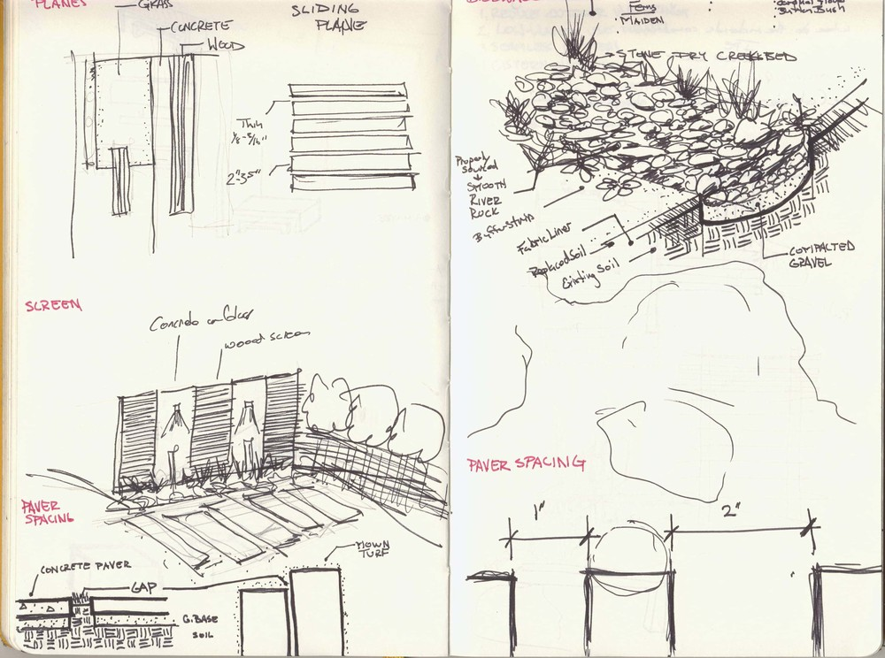 Project Sketches from Residential Master Plan