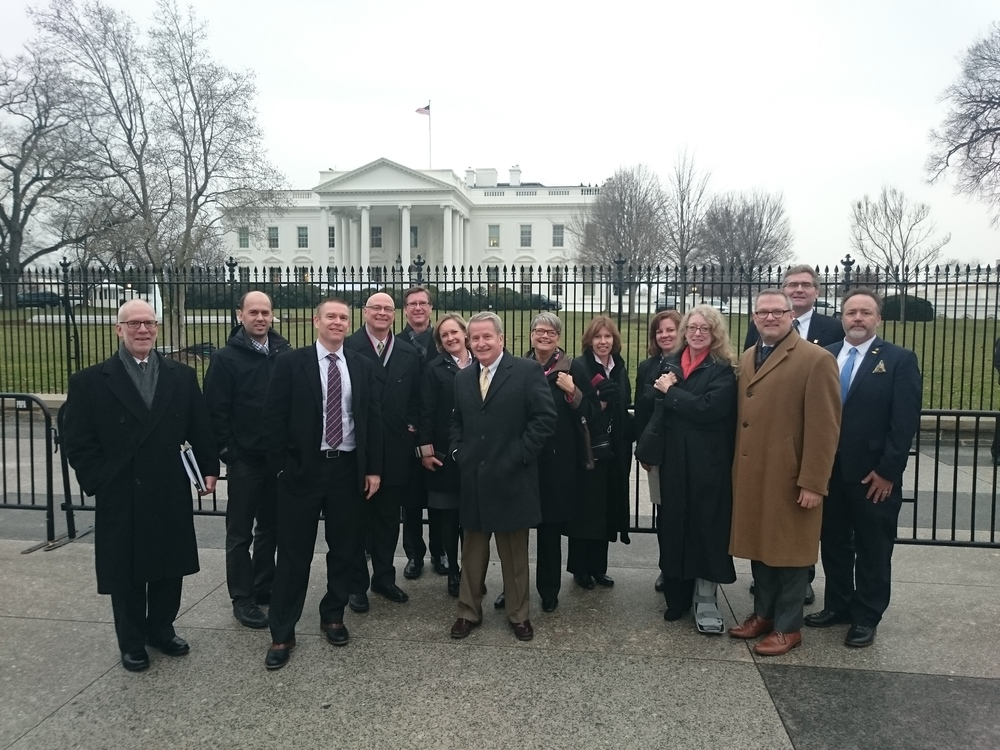 ASLA representatives in front of White House.