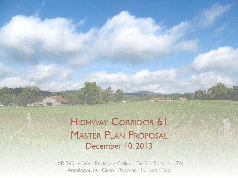 Norris, TN - Master Plan (Group and Individual)