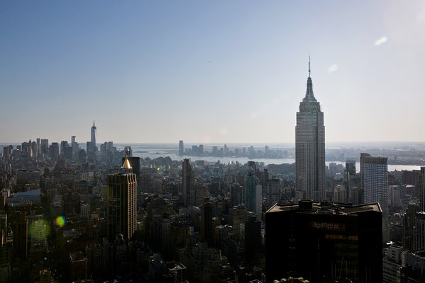 A  number of residential skyscrapers will join the Empire State Building  on the Manhattan skyline, but only two of them will be taller. Credit: Todd Heisler/The New York Times
