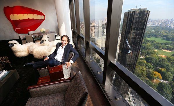 Michael Shvo, shown at home in the Time Warner Center, has returned to real estate as a developer. Chang W. Lee/The New York Times