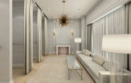 A rendering of the ladies' lounge. Credit: Club Monaco