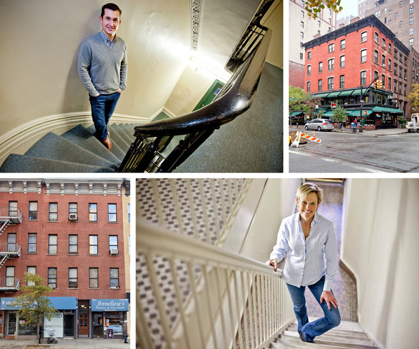 Robert Peruzzi is among the New Yorkers who prefer a walk-up apartment. His, in a building on Irving Place, has the requisite exposed brick and fireplace, not to mention a totally renovated kitchen. Diane Ash moved this month to the third floor of a walk-up on the Upper East Side. The stairs, she says, are part of her exercise regimen.   Katherine Marks for The New York Times