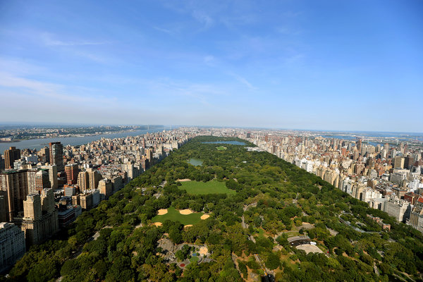 The One57 luxury skyscraper has far-reaching views of Central Park and beyond.   Credit  Chang W. Lee/The New York Times