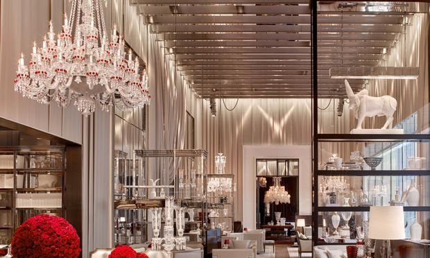 The 'Grand Salon' of the recently opened Baccarat Hotel across the street from the MOMA.(Baccarat Hotel & Residences)