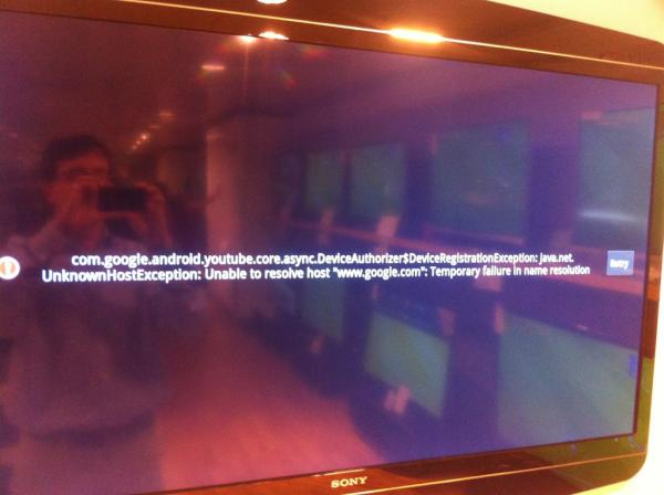 The measure of any tech product is how it handles things going wrong. Google TV does rather fail that test