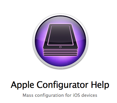 The Apple Configurator for iPads. Welcome to the enterprise (and schools)