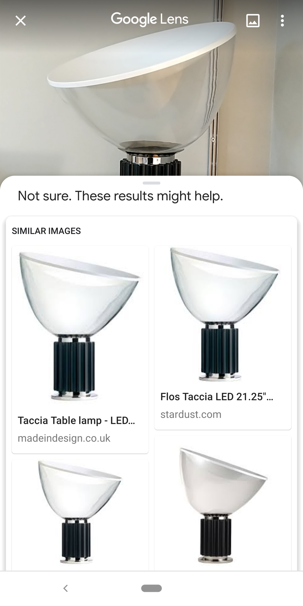 Yes, this is a Taccia lamp