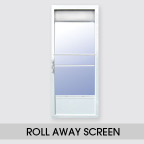 Storm doors duraco windows doors for Storm door with roll up screen
