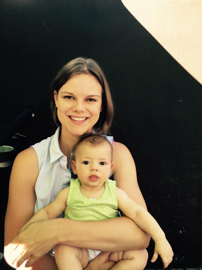 Allison and baby Freya, Fall 2016