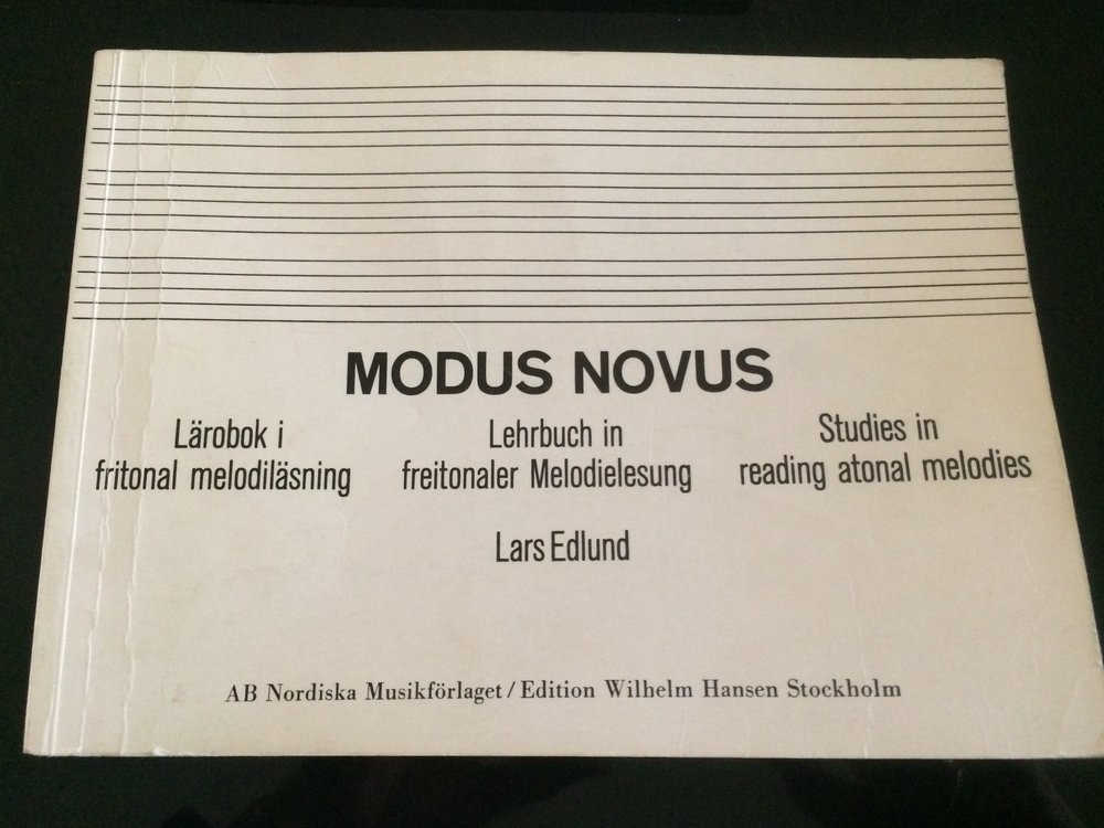 Modus Novus by Lars Edlund is a special, advanced book on reading atonal intervals at sight.